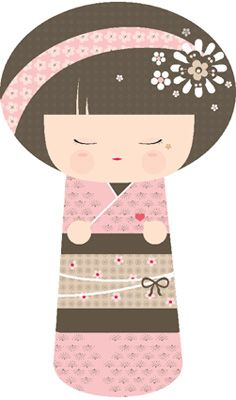 Miss bonbon et lilipinso on pinterest bonbon stickers for Decoration chambre kokeshi