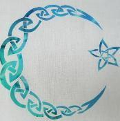 Celtic Moon and Star Applique - via @Craftsy