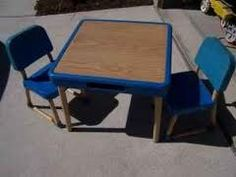 fisher price kids table & chairs