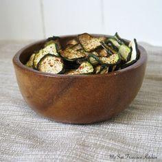 Baked Organic Zucchini Chips