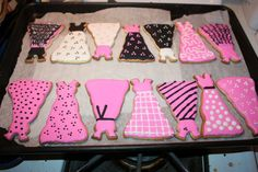 Sugar cookie dresses with royal icing (both recipes from MarthaStewart.com)