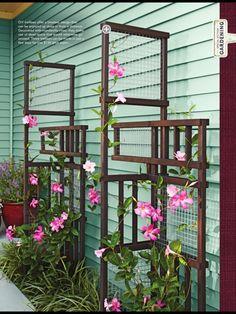 cute garden idea... cute garden ideas, creativ ideal, garden trelli, low creativ, trellis, outdoor space, gardens, outdoor design, design idea