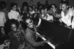 The legendary Stevie Wonder back in the day (Rainbow Theatre, London, 31st January 1974)