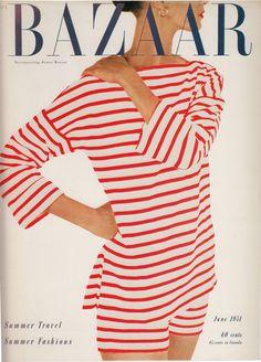 magazine covers, fashion, red, vintage, summer travel, harper bazaar, white, magazines, stripes