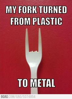 ...und er verwandelte Plastik in Schwermetall.