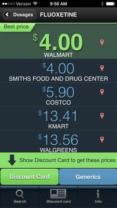 FREE App to see which store has your prescription for the lowest price!  COOL!