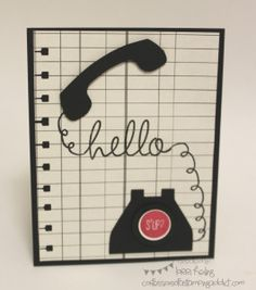 Confessions of a Stamping Addict Lorri Heiling Stampin' Up Telephone Card Hi There