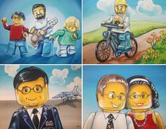 You as a Lego Guy: Custom Portrait of you or your loved one(s) 11 x 14. $69.00, via Etsy.
