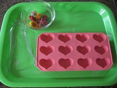 Montessori inspired Valentines activities for Tots.  #learn #valentinesday