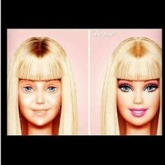 Good ole Barbie without her make up.