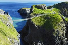 Carrick-a-Rede Rope Bridge in Northern Ireland, one of the sites where HBO films the series Game of Thrones