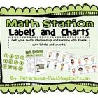 Get your math stations up and running with these cute labels and charts. This packet includes number cards for your math boxes and math station man...