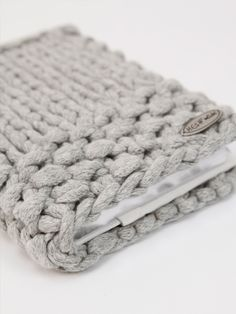 knitted notebook cover