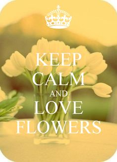 KEEP CALM AND LOVE FLOWERS