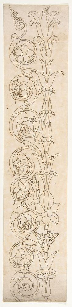 Ornamental drawings (recto) blank (verso)