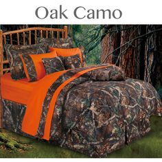 Delectably-Yours.com Oak Camo Bedding Comforter Set  comforter set is perfect for little boys room I am gonna do.