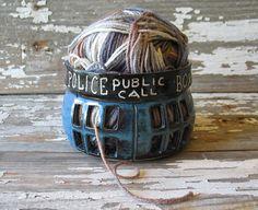 Hey, I found this really awesome Etsy listing at https://www.etsy.com/listing/190597716/tardis-yarn-bowl-knitting-organizer