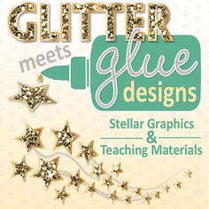 Glitter Meets Glue Designs: Teachers Pay Teachers Store - Check out my glitter-ific clipart! #clipart #illustration #graphic #teacher #education #teaching #commoncore