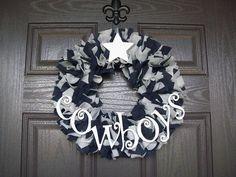 Dallas Cowboys Wreath by FrontDoorDecor on Etsy, $38.00