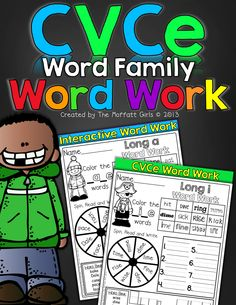 CVCe Word Work!  Fun and interactive!  LOVE it!