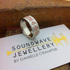 Custom Soundwave Wedding Engagement Rings On Pinterest