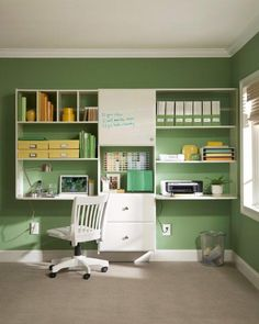 Streamlined solutions for your home office from Martha Stewart Living.