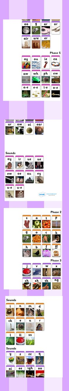 Twinkl Resources >> Phase 2, 3 and 5 Photo Wall Chart >> Printable resources for Primary, EYFS, KS1 and SEN.  Thousands of classroom displays and teaching aids! Literacy, English, Letters and Sounds, Phase 2, Phase 3, Phase 5, Photo Resources, Wall Charts