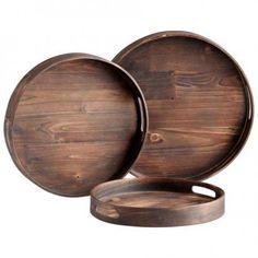 round wood trays