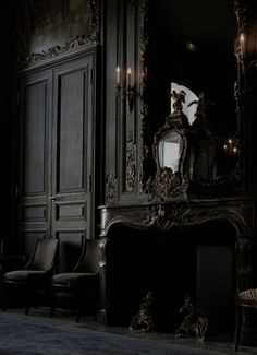 dark, haunting rooms