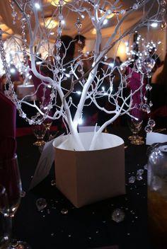 Winter Decorated Manzanita Tree Centerpiece