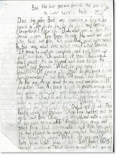 sixth grade writing samples