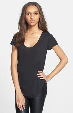 Leith Curved Hem Tee available at #Nordstrom