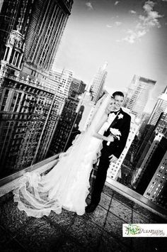 Rooftops are the urban solution to outdoor venues. We love the 'posh' value it adds to a wedding.  [theWit Hotel]