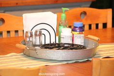 DIY lazy susan tray