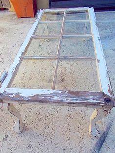 DIY Rustic Window Pane Table