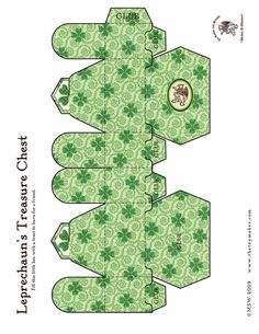 Image detail for -Leprechaun's Treasure Box - ST. PATRICK'S DAY Paper Toys