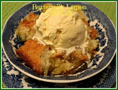 Sweet Tea and Cornbread: Buttermilk Lemon Cobbler!
