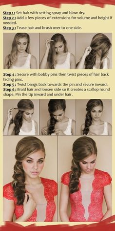 How To Do Hairstyles Tutorials to get the romantic swept look braids included. Step By Step For Long Hair | Medium Hair | Short Hair