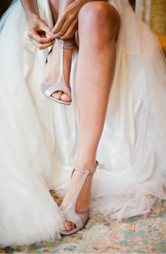 Elegant Virginia Outdoor Wedding Shoes Getting Ready Bride