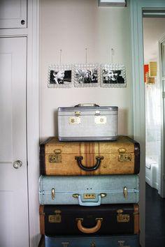 #vintage #luggage decor