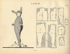 bunni pattern, bunni suit, rabbit costum, vintag bunni, halloween costumes, rabbits, vintag rabbit, lapin, vintage pattern sew