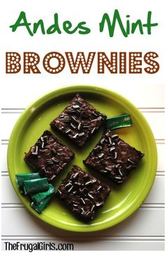 Andes Mint Brownies Recipe! ~ from TheFrugalGirls.com {Whip up these tasty little treats in a flash! They're beyond delicious!} #brownie #recipes #thefrugalgirls