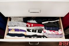 File fold your clothes in drawers to save space and find things quickly! This is brilliant.