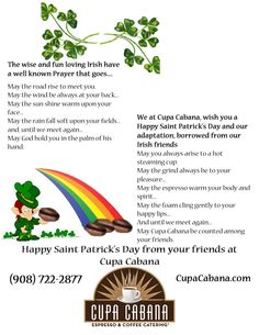 Our St Patrick's day wish to you