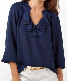 The Ellie top is beautiful! Adding the Azalea Pink one to my wardrobe ASAP- can be worn all year long!