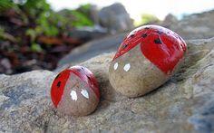 Kid's Craft - Ladybug Rocks
