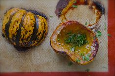 Meatless Mondays: Garlic–Parsley Butter Roasted Acorn Squash