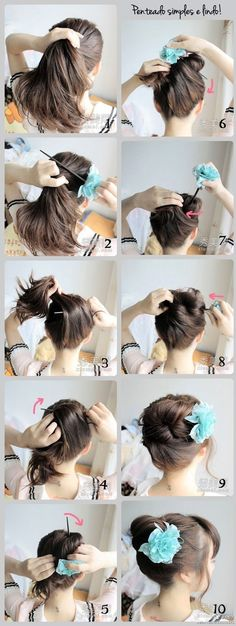 O Mundo de Calíope: Penteado simples e lindo passo-a-passo