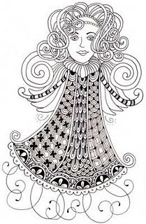 Zentangled Angel by Sandy - read about it on her BEEZ blog.