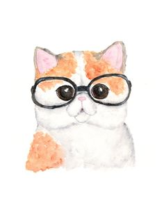 """Blind as a Cat"" by Lindsay Gail from Buffalo, NY  #cat #cats #catart #kitten #art #illustration #painting #watercolor"